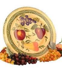 painted serving platters tuscan collection deluxe painted serving platter
