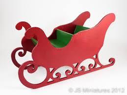 Fine Dolls House Miniatures by JS Miniatures Santa s Sleigh Kit