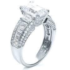 engagement rings emerald cut emerald cut diamond engagement ring 192