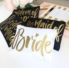 Bride Makeup Bag Metallic Bride Cosmetic Bag