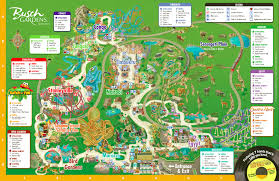 Orlando Parks Map by Behind The Thrills Busch Gardens Tampa
