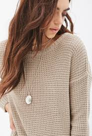 oversized chunky knit sweater lyst forever 21 chunky knit oversized sweater in brown