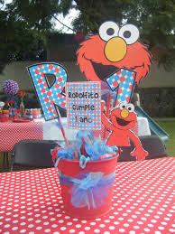 Elmo Centerpieces Ideas by Elmo Centerpiece Ricky U0027s Elmo Party Pinterest Elmo