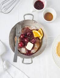 cuisine cerise pancakes sauce aux cerises pour 4 personnes recettes à table