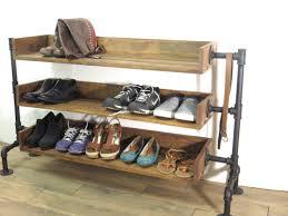 Entryway Shoe Storage Industrial Pipe Shoe Storage Shoe Rack Shoe Organizer Black