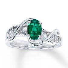 emerald silver rings images Kay lab created emerald ring lab created sapphires sterling silver jpg