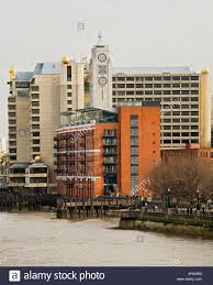 view of oxo tower with sea containers house at london uk stock
