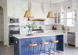 white kitchen cabinets with blue island 21 beautiful blue and white kitchen design ideas