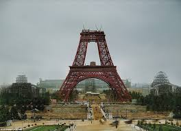 gustave eiffel apartment photos of famous buildings being built transformed into colour
