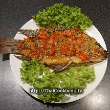chili cuisine authentic recipe for fried fish with chili and garlic