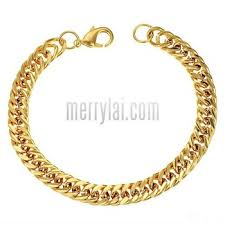 bracelet chain gold man images Arrival gold jewelry men 39 s gold bracelets gold plated chain ml 12 jpg