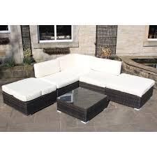 Rattan Garden Furniture Sofa Sets Outdoor All Weather Garden Furniture Corner Sofa Set In Brown