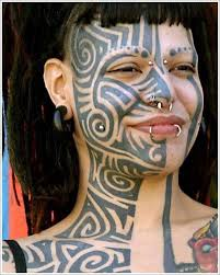 tribal full face tattoo designs for tribal face tattoo star