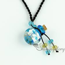 glass necklace pendants wholesale images Buy essential oil diffuser necklaces empty small jpg