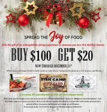 discounted restaurant gift cards caragiulos italian american restaurant home sarasota florida