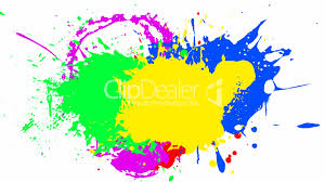 multiple paint color splash royalty free video and stock footage