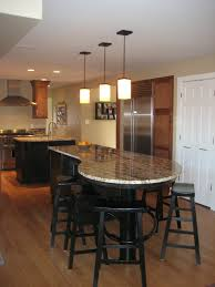 furniture curved kitchen island with breakfast bar idea and black