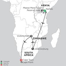 Victoria Falls Map Zimbabwe Vacations From Monograms