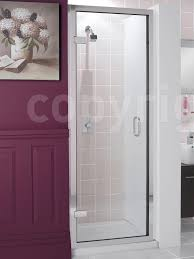 Shower Door 700mm Classic Frameless 700mm Hinged Shower Door