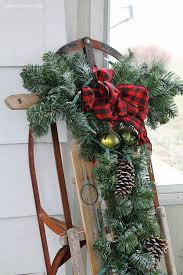How To Decorate A Swag For Christmas Best 25 Christmas Sled Ideas On Pinterest Decorating Porch For
