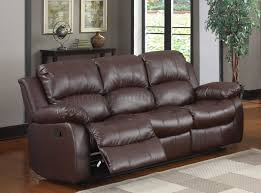 Motion Leather Sofa Motion Sofa 9700brw Brown Bonded Leather Homelegance