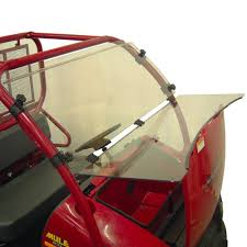 amazon com kolpin full hinged windshield for kawasaki mule 600