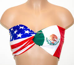 German Flag Bathing Suit Padded American Flag And Mexican Flag Bandeau United