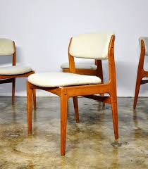 Teak Dining Chair Select Modern Set Of Four Erik Buch Style Teak Dining Chairs