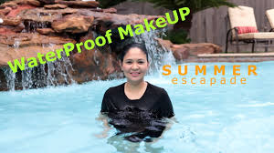 waterproof makeup tested my own backyard summer escapade