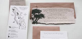 wedding invitations handmade handmade paper wedding invitation with kraft paper tiny pine press