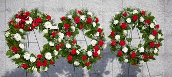 memorial wreaths stock photo image of garland wreaths 55792396