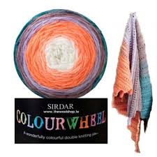 sirdar water wheel flower garder 203 knitting yarn wool and