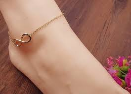 simple gold alloy 8 shape design ankle chain anklet