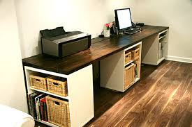Diy Wall Desk Desks Large Diy Desk With Storage Shelves Desks Office Desk To