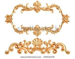 gold ornament on white background isolated stock illustration