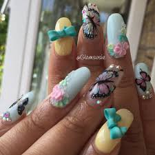 nails cool butterfly nail background summer nail designs for