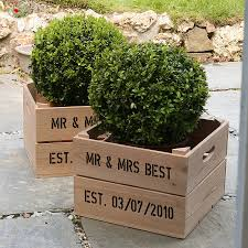 personalised housewarming gift crate by plantabox