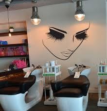 Home Salon Decor Hair Salon Decor Decal Lashes Makeup Wall Decor Lashes Decal