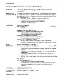 Insurance Sales Resume Examples by Sample Basic Resume 21 Documents In Word