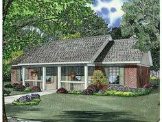 bungalow house plan with 1100 square feet and 2 bedrooms from