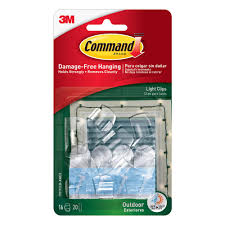 home depot halloween lights command clear small outdoor light clips 17017clr aw the home depot