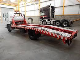 isuzu npr beavertail recovery truck 1998 walker movements