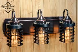 Bar Light Fixture Industrial Bathroom Vanity Lighting Within Cage Light Fixture Bar