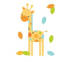 Nursery Wall Mural Decals Safari Animal Giraffe Wall Mural Decal Jungle Nursery Stickers