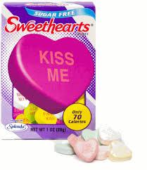necco sweethearts sugarfree sweethearts box