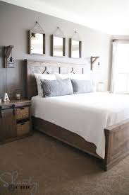 Bed Frames Diy King Bed Frame Plans Farmhouse Bed Pottery Barn by Diy Rustic Modern King Bed Shanty 2 Chic