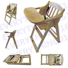 Toddler Feeding Table by Childs Wooden High Chair Ebay