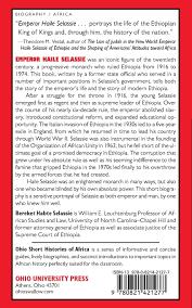 Ohio Power Of Attorney by Emperor Haile Selassie Ohio Short Histories Of Africa Bereket