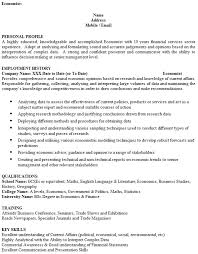 Resume In English Examples by Economist Cv Example Icover Org Uk