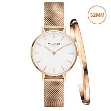 ladies steel bracelet images 32mm luxury brand ladies steel bracelet quartz watch fashion jpg